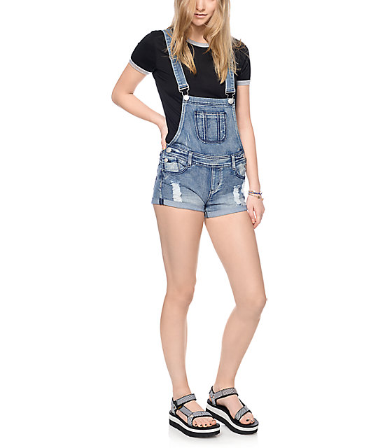 Empyre Haylee Potassium Blue Overall Shorts