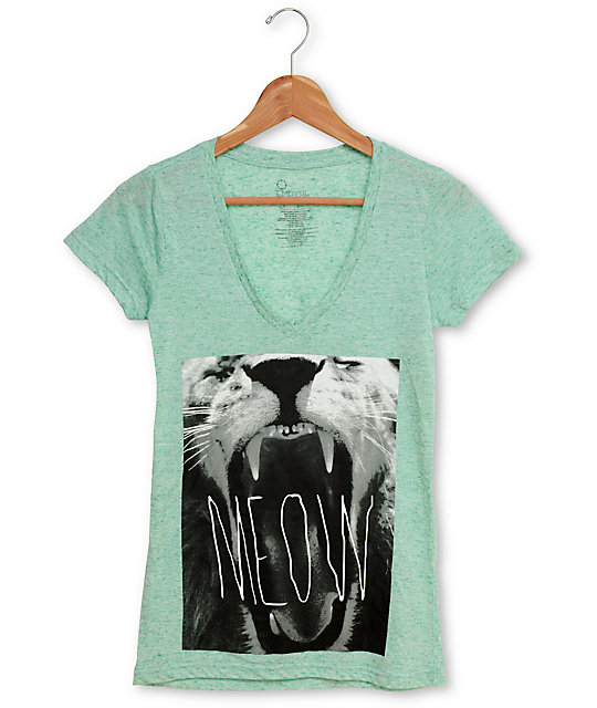Empyre Hear Me Roar Mint V-Neck T-Shirt