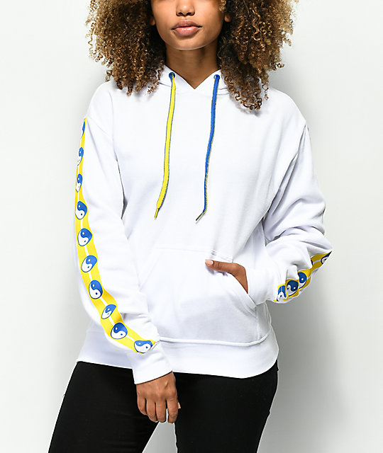 Empyre Hedwig Yin Yang White Hoodie by Empyre