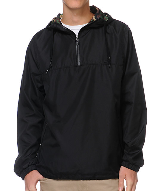Empyre Heist Black & Camo Windbreaker
