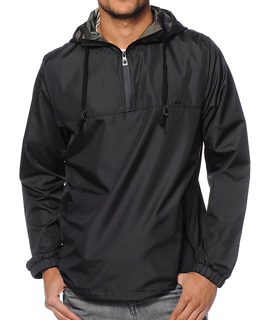 Empyre Heist Black Pullover Technical Rain Jacket | Zumiez