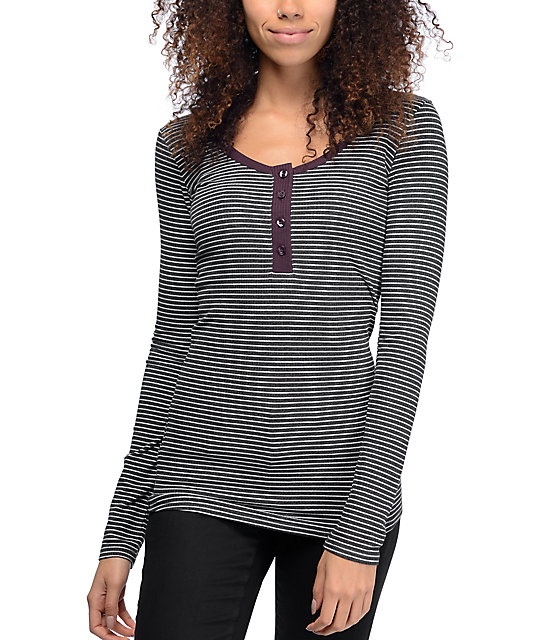 Empyre Helle Stripe Cream Long Sleeve T-Shirt at Zumiez : PDP