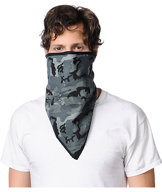 Empyre Hidden Camo Black Face Mask Bandana