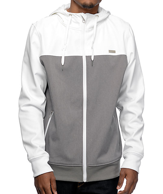 Empyre Highlights White & Grey Tech Fleece Jacket