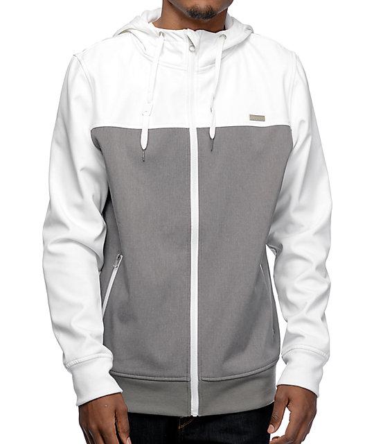 Empyre Highlights White & Grey Tech Fleece Jacket at Zumiez : PDP