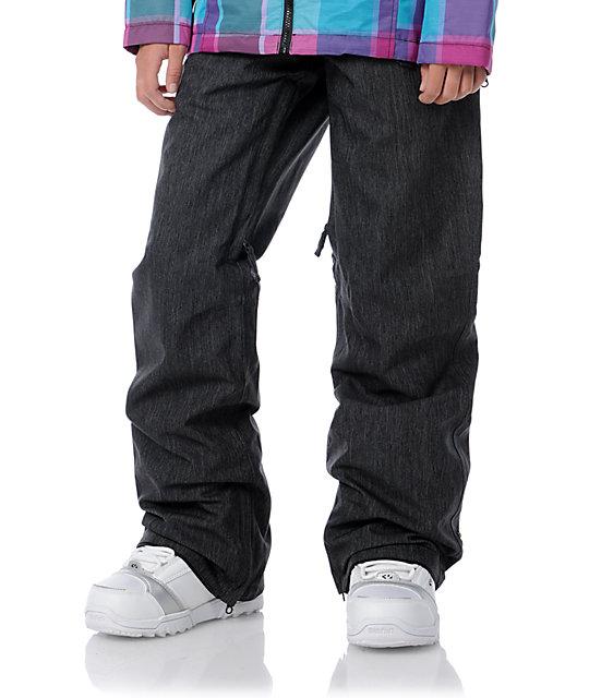 Empyre Hilltop 2 Black Denim 10K Chino Snowboard Pants