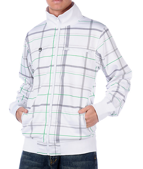 Empyre Hooligan White Plaid Track Jacket