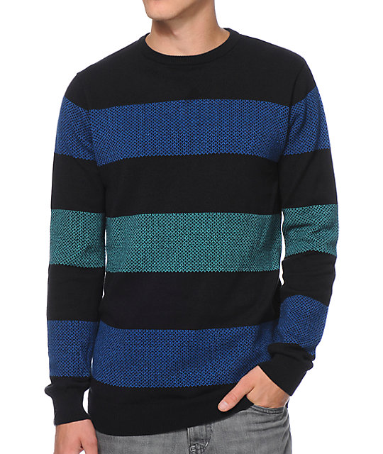 Empyre Ice Box Black Stripe Sweater