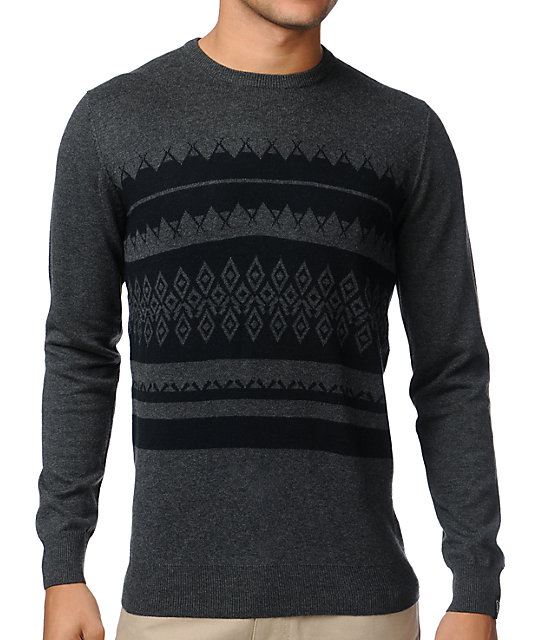 Empyre Icelandic Dark Grey Crew Neck Sweater