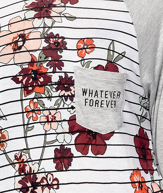 Empyre Indira Floral Stripe Baseball T-Shirt