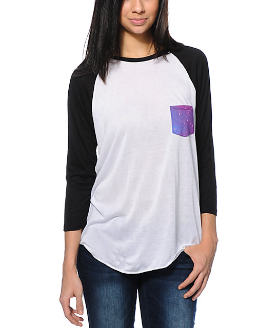 Empyre Indira Galaxy Pocket Baseball Tee