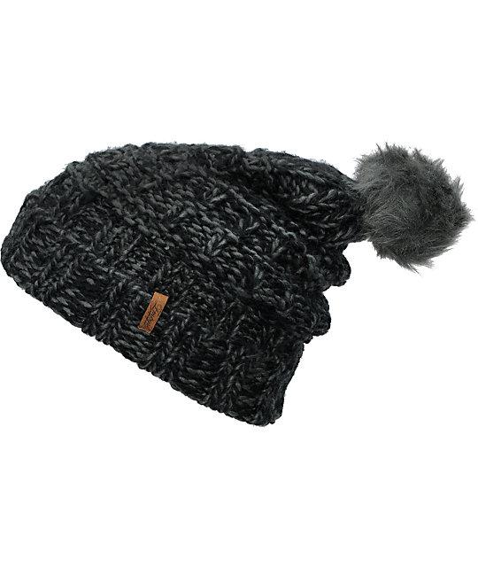 Empyre Indu Grey & Black Knit Beanie