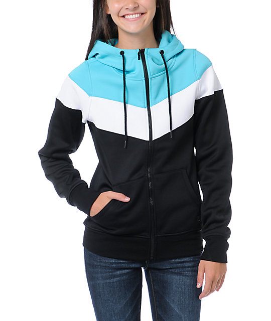 Empyre Insignia Black & Teal Full Zip Tech Fleece Jacket