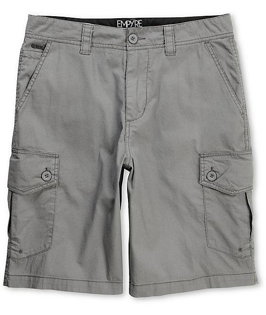 Empyre Insurgent Grey Cargo Shorts