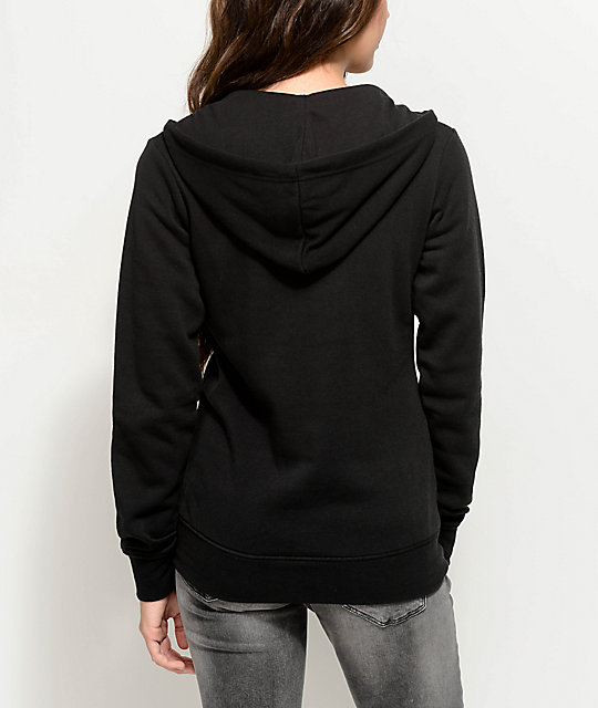 Empyre Irma Black Lace Up Hoodie