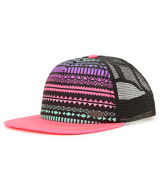 Empyre Jamboree Purple & Tribal Print Trucker Hat
