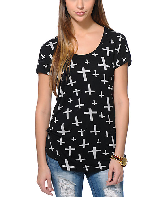 Empyre Janesville Crosses Black Dolman T-Shirt