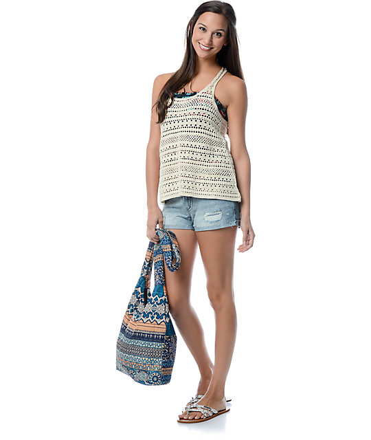 Empyre Janis Cream Crochet Tank Top