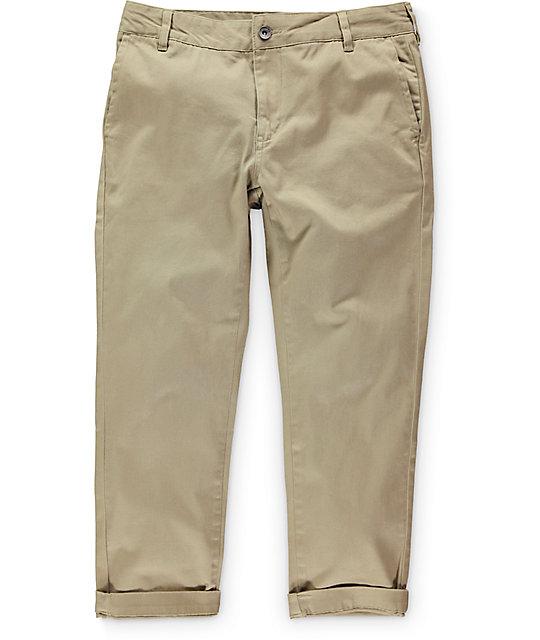 Empyre Jay Khaki Cropped Chino Pants