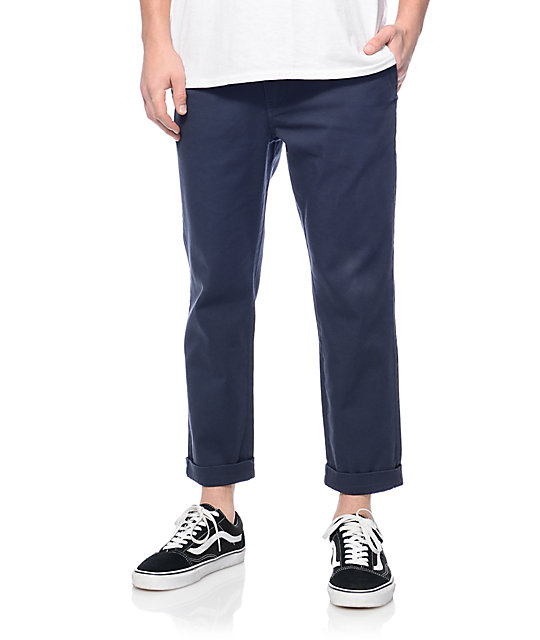 Empyre Jay Navy Cropped Chino Pants