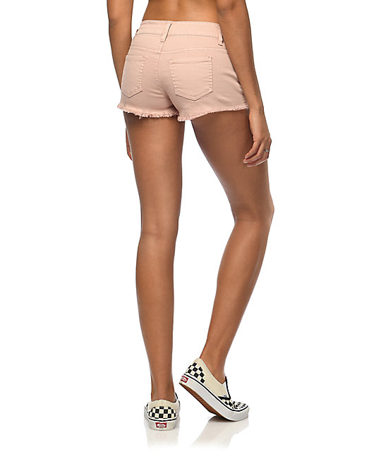 Empyre Jenna Light Pink Destructed Shorts