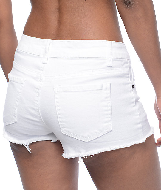 Empyre Jenna White Destructed Shorts