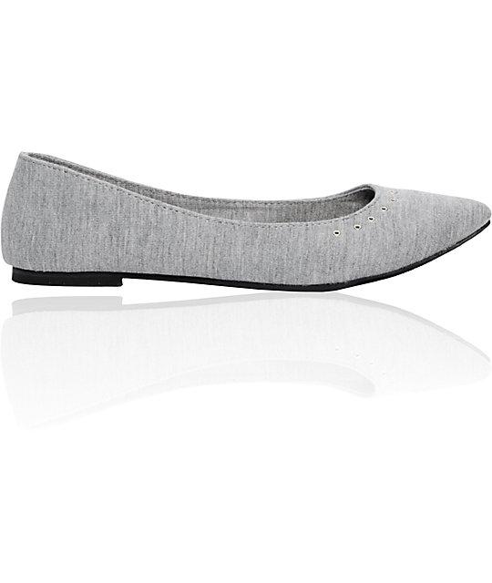 Empyre Jillian Grey Jersey Ballet Flat
