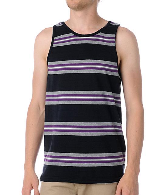 Empyre Joker Black & Purple Stripe Tank Top