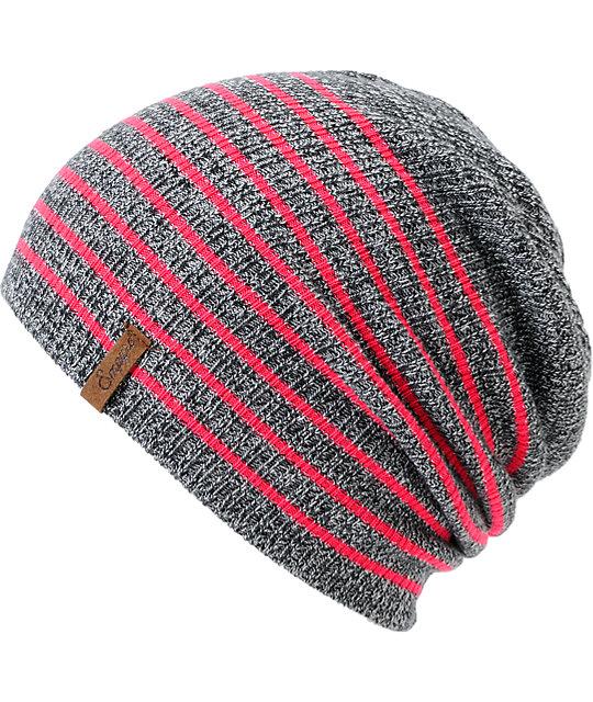 Empyre Juliet Neon Pink Stripe Beanie