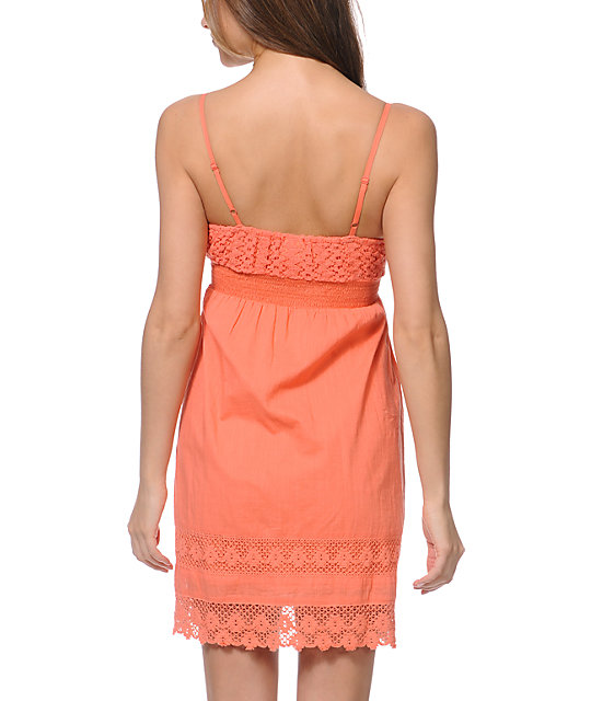 Empyre Kalli Coral Crochet Dress