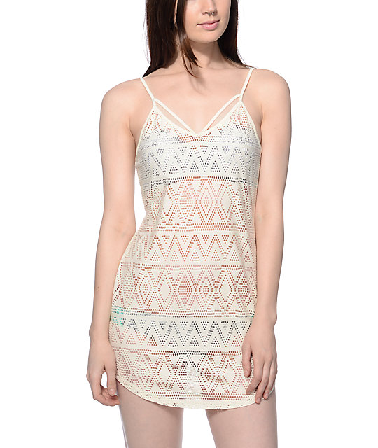 Empyre Kassie Cream Pointelle Tank Dress