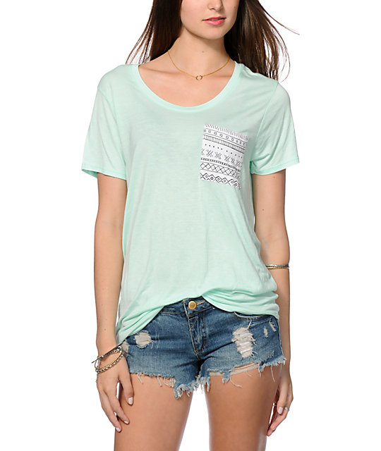 Empyre Kessler Tribal Pocket Mint T-Shirt