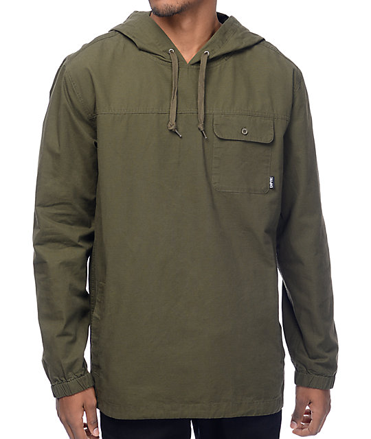Empyre King Olive Woven Ripstop Hoodie