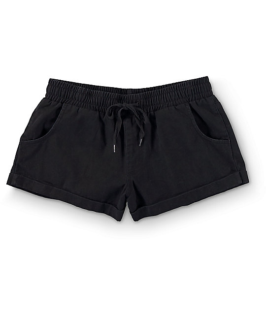 Empyre Laurel Black Twill Rolled Shorts