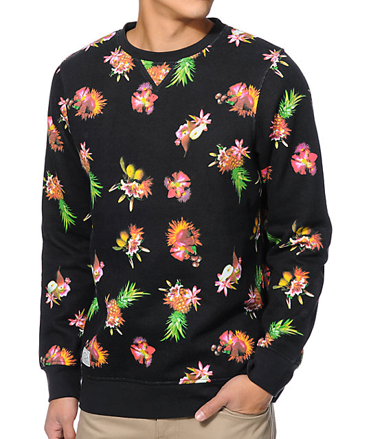 Empyre Leary Fruit Black Crew Neck Sweatshirt