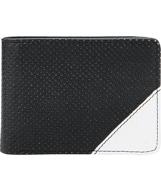 Empyre Loco Tri-Fold Black Perforated Wallet