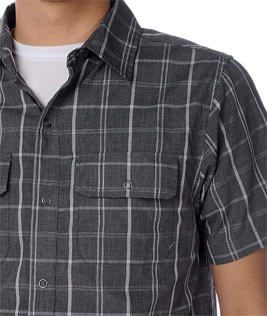Empyre Lodge Marque Grey Plaid Woven Shirt