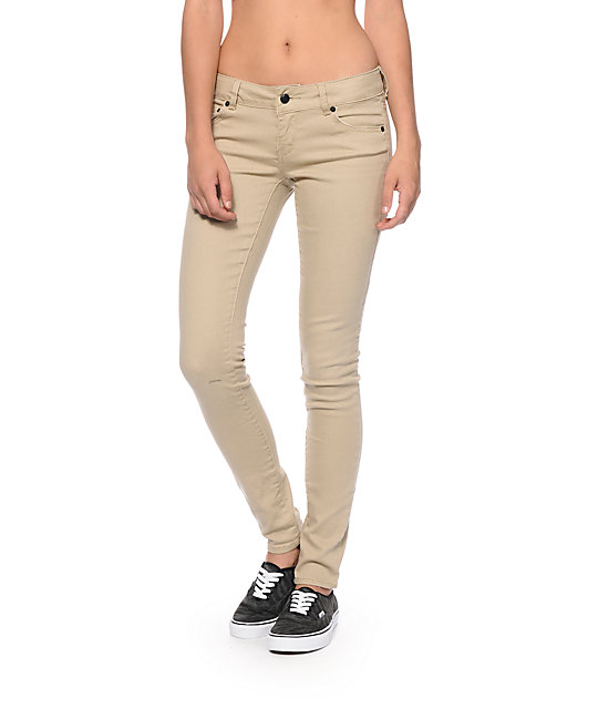 Wonderful MidRise Skinny Khakis For Women  Old Navy