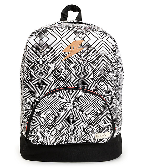 Empyre Lucy Black & White Geo Print Backpack