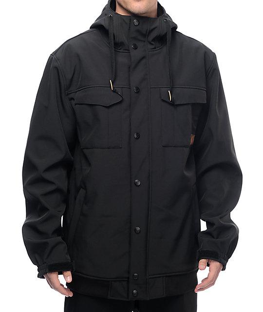 Empyre Luger M65 Softshell 10K Black Snowboard Jacket