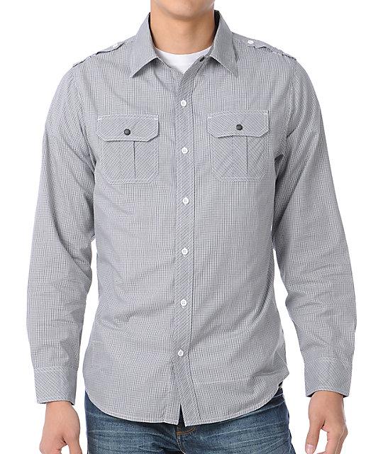 Empyre Mainframe Black & White Woven Shirt