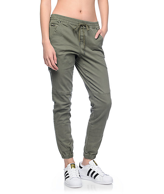 Cool Publish Women39s Olive Sienna Jogger Pants  WIldfang  Style  Culture