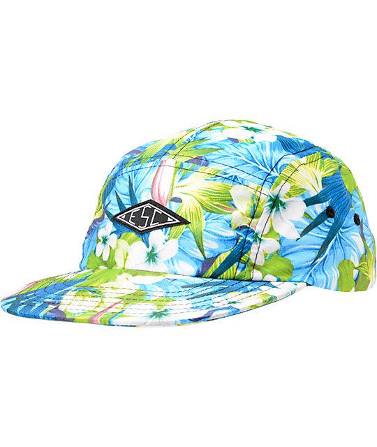 Empyre Maui Wowie Blue Floral 5 Panel Hat