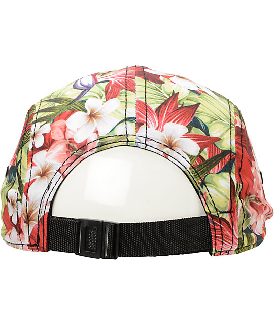 Empyre Maui Wowie Red Floral 5 Panel Hat