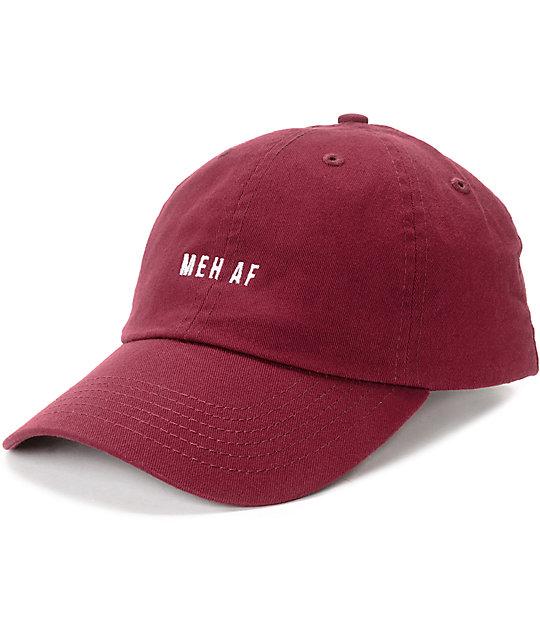 Empyre Meh Af Burgundy Baseball Hat Zumiez