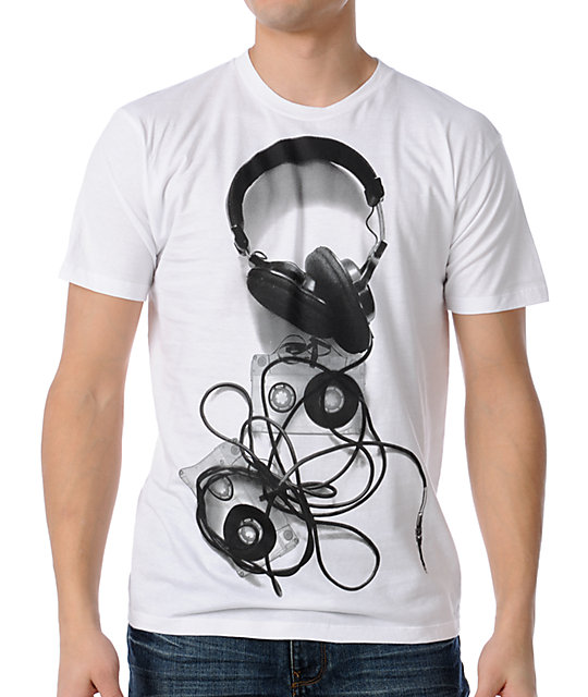 Empyre Mens Soundcheck White T-Shirt