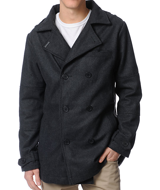 Empyre Mercer Charcoal Wool Pea Coat