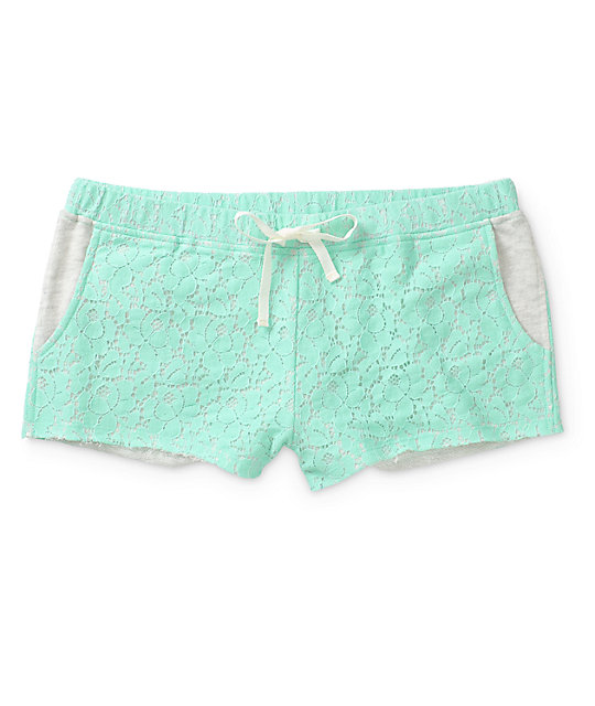 Empyre Misha Mint Crochet Shorts