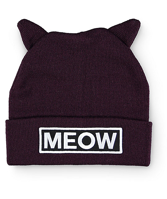 MEOW' Beanie | Gifts For Crazy Cat Ladies – Animal Hearted Apparel