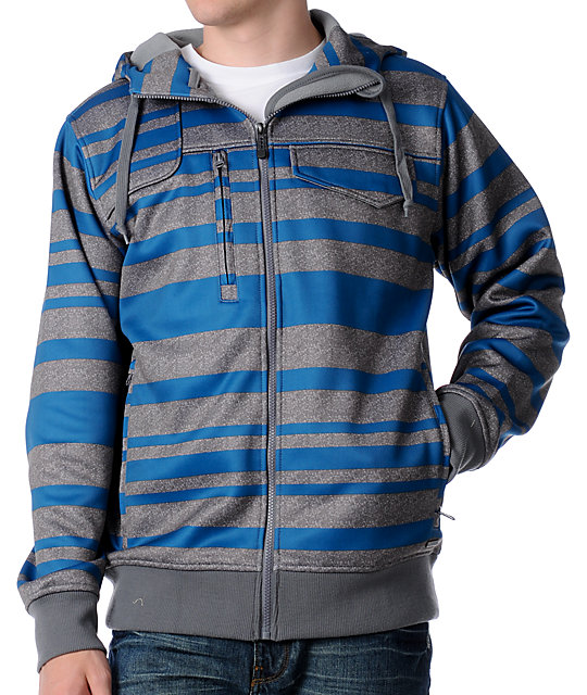 Empyre Missile Turquoise & Grey Tech Fleece Jacket